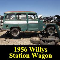 Junkyard 1956 Willys Jeep Station Wagon