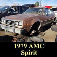 1979 AMC Spirit in junkyard