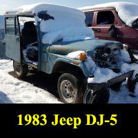 Junkyard 1983 Jeep DJ-5L