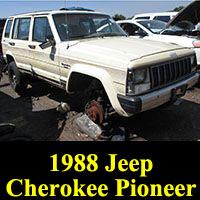 Junkyard 1988 Jeep Cherokee Pioneer