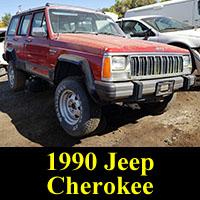 Junked 1990 Jeep Cherokee