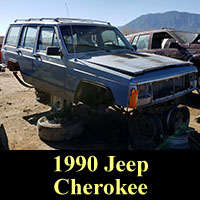 1990 Jeep Cherokee in junkyard