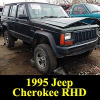 Junkyard 1995 Jeep Cherokee right-hand drive