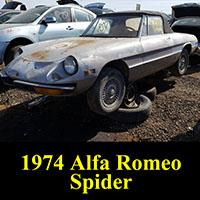 junkyard 1974 Alfa Romeo Spider