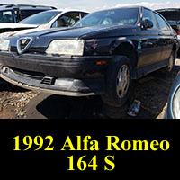 Junkyard 1992 Alfa Romeo 164S