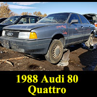 Junkyard 1988 Audi 80 Quattro