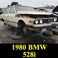 Junkyard 1980 BMW 528i