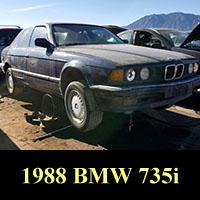1988 BMW 735i in Colorado junkyard