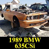Junkyard 1989 BMW 635CSi