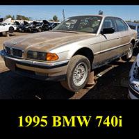 junkyard 1995 BMW 740i