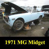 Junkyard 1971 MG Midget