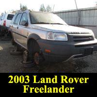 Junkyard 2003 Land Rover Freelander