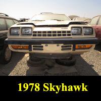 Junkyard 1978 Buick Skyhawk