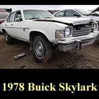 Junkyard 1978 Buick Skylark
