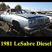 Junkyard 1981 Buick LeSabre Diesel