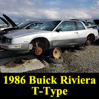 Junkyard 1986 Buick Riviera T-Type