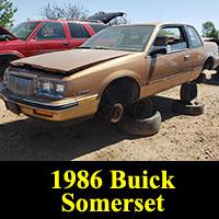 Junkyard 1986 Buick Regal Somerset