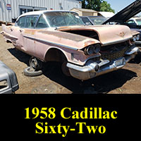 Junkyard 1958 Cadillac 62 Sedan