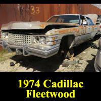 Junkyard 1974 Cadillac Fleetwood Brougham