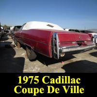 Junkyard 1975 Cadillac Coupe De Ville