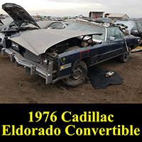 Junkyard 1976 Cadillac Eldorado convertible