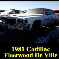 Junkyard 1981 Cadillac Fleetwood