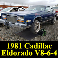 Junkyard 1981 Cadillac Eldorado