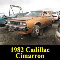 Junkyard 1982 Cadillac Cimarron