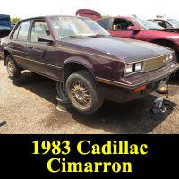 Junkyard 1983 Cadillac Cimarron