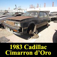 Junkyard 1983 Cadillac Cimarron d'Oro