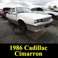 Junkyard 1986 Cadillac Cimarron