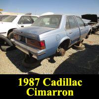 Junkyard 1987 Cadillac Cimarron