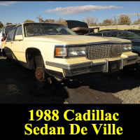 Junkyard 1987 Cadillac Sedan DeVille