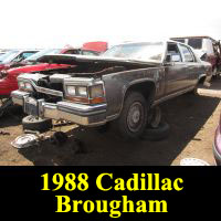 Junkyard 1988 Cadillac Brougham d'Elegance