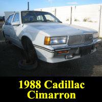 Junkyard 1988 Cadillac Cimarron