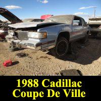 Junkyard 1988 Cadillac Coupe DeVille