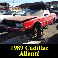 Junkyard 1989 Cadillac Allante