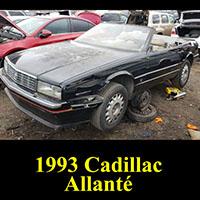 1993 Cadillac Allante in junkyard