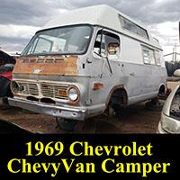 1969 Chevrolet ChevyVan RV in junkyard