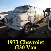 Junkyard 1973 Chevrolet G30 van