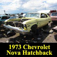 Junkyard 1973 Chevrolet Nova liftback