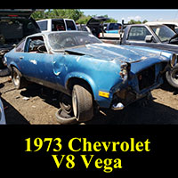 1973 Chevrolet V8 Vega in junkyard