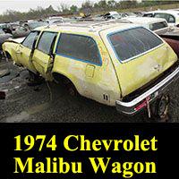 Junkyard 1974 Chevrolet Malibu Classic Station Wagon