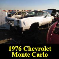 Junkyard 1976 Chevrolet Monte Carlo