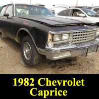 Junkyard 1982 Chevrolet Caprice