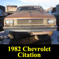 Junkyard 1982 Chevrolet Citation