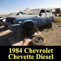 Junkyard 1984 Chevrolet Chevette Diesel