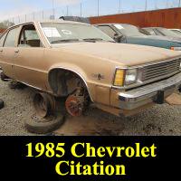Junkyard 1985 Chevrolet Citation