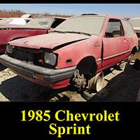 Junkyard 1985 Chevrolet Sprint