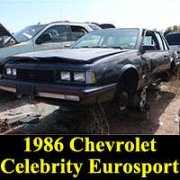Junkyard 1986 Chevrolet Celebrity Eurosport